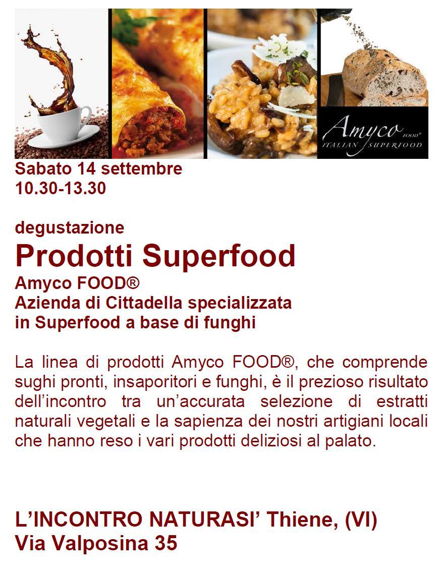 Degustazione dei prodotti Superfood